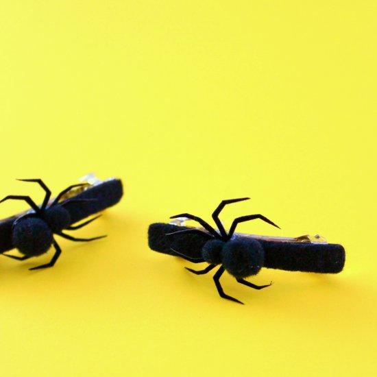 DIY Matching Spider Barrettes