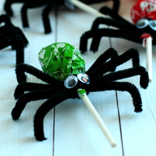 Spider Lollipops Kids Craft