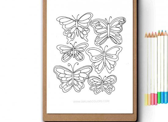 free butterfly coloring paper   craftgawker